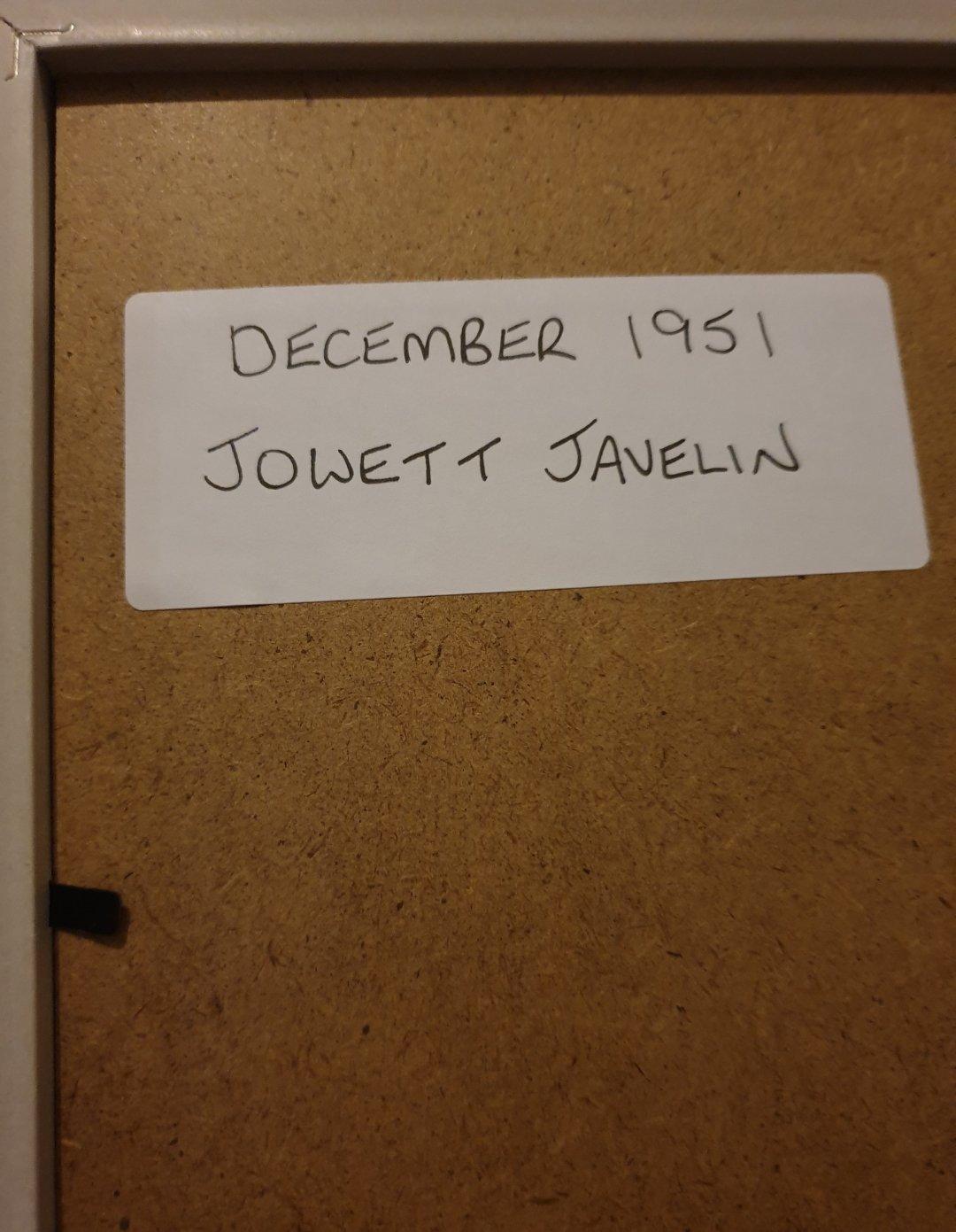 1951 Jowett Javelin Advert Original  For Sale (picture 2 of 2)