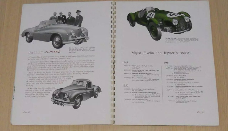 50 years of Jowett book/brochure For Sale (picture 5 of 6)