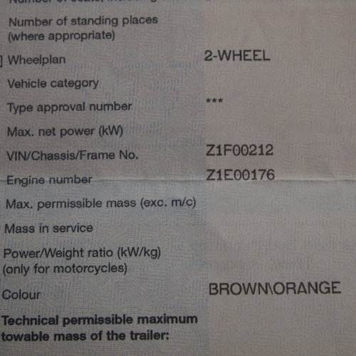 1972 Kawasaki Z1 900 Super Rare Early Z1 (  NUMBER 212  ). For Sale (picture 2 of 6)