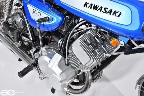1971 A Beautifully Restored Kawasaki H1-A - over £17k in receipts SOLD (picture 4 of 6)