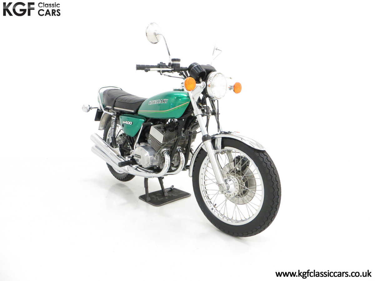 1978 An Unrepeatable Kawasaki KH400-A4 Triple with Only 348 Miles SOLD (picture 1 of 6)