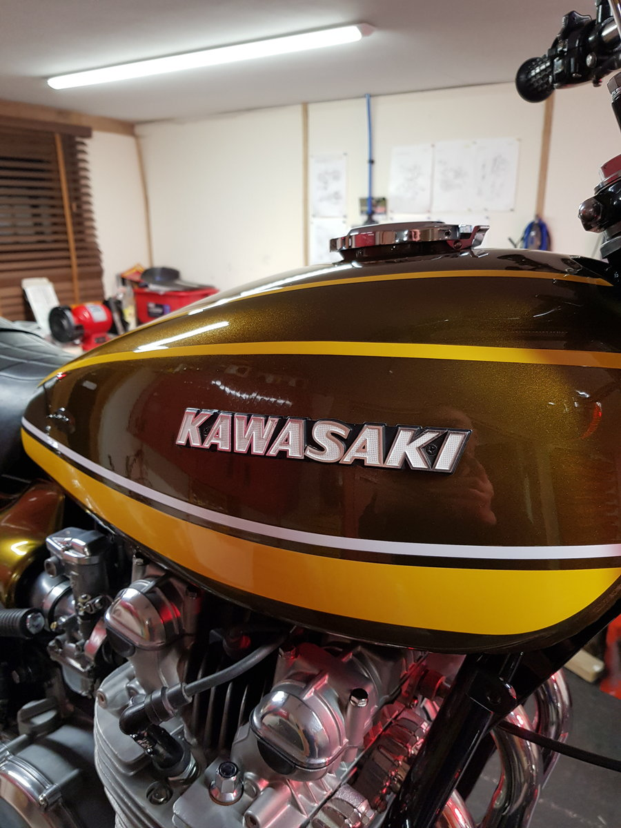 1973 Kawasaki Z1A 900 (1974) In Factory Green/Yellow For Sale (picture 2 of 6)