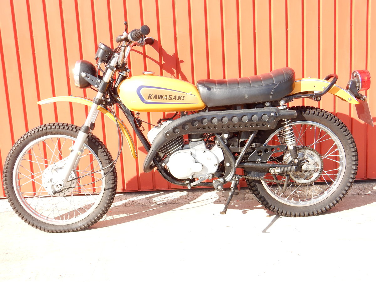 KAWASAKI F7 175cc 1971 ELECTRIC START MODEL LOVELY ORIGINAL  For Sale (picture 2 of 2)