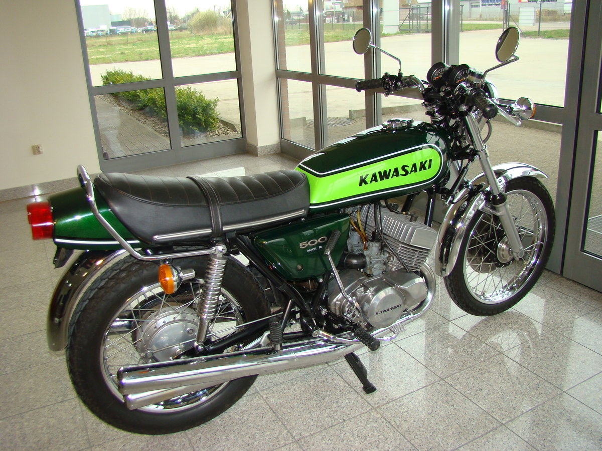 KAWASAKI H1 500 D Mach 3 1973 VIDEO !! For Sale (picture 4 of 6)