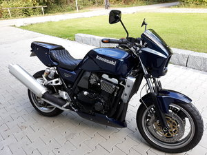 1998 Kawasaki ZRX1100R Custom in Porsche midnight Blue LOOK! For Sale