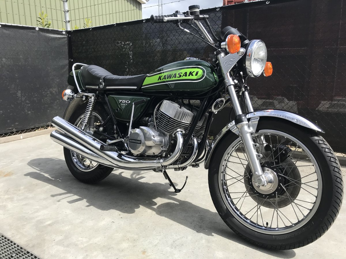 1975 Completely restored Kawasaki H2B 750 for sale For Sale (picture 1 of 6)