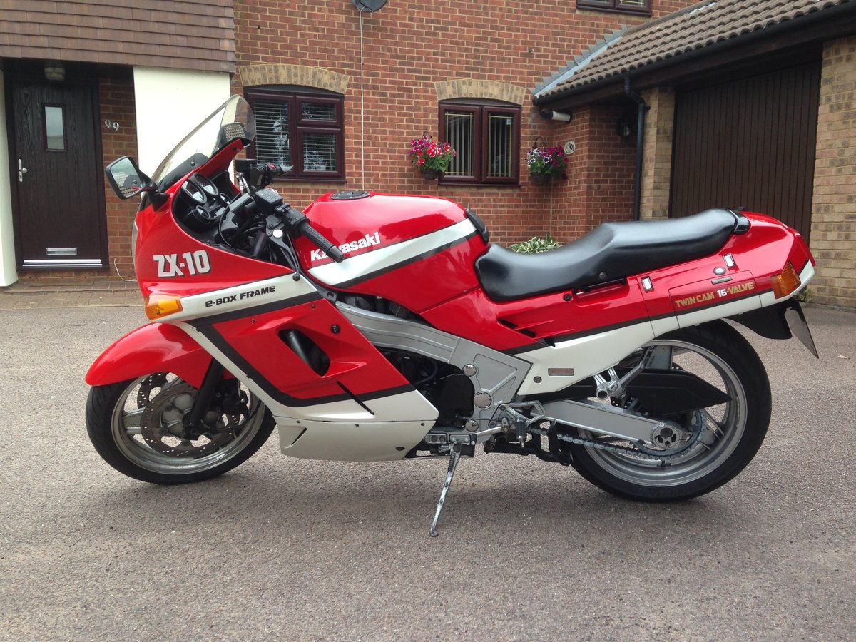 1988 Kawasaki ZX-10 B1 Great Condition Low Mileage For Sale