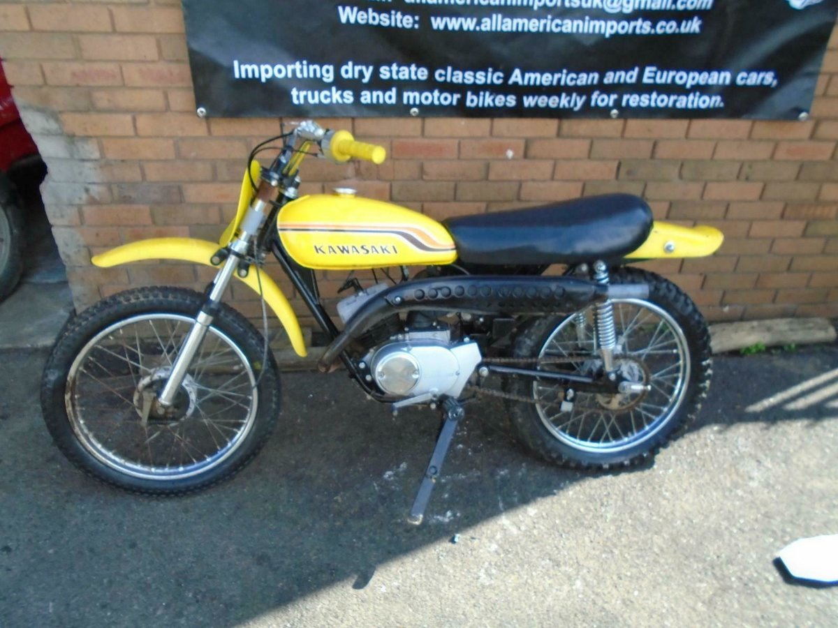 1971 KAWASAKI G5 KE100 YELLOW US IMPORT PART RESTORED For Sale (picture 1 of 6)