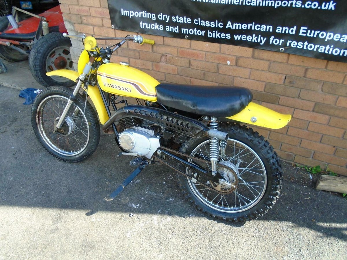 1971 KAWASAKI G5 KE100 YELLOW US IMPORT PART RESTORED For Sale (picture 2 of 6)