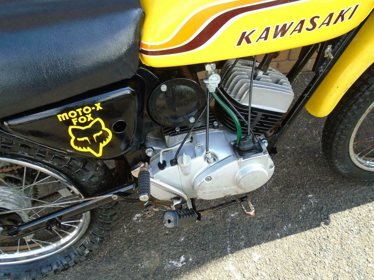 1971 KAWASAKI G5 KE100 YELLOW US IMPORT PART RESTORED For Sale (picture 5 of 6)