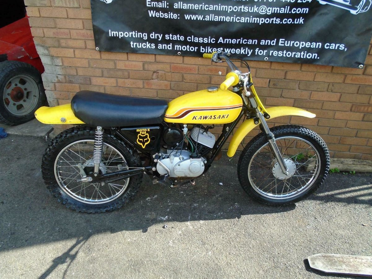1971 KAWASAKI G5 KE100 YELLOW US IMPORT PART RESTORED For Sale (picture 6 of 6)