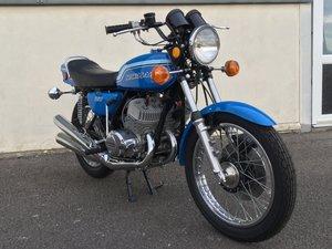 Kawasaki H2 1972 Pearl Candy Blue Sympathetic Restoration For Sale