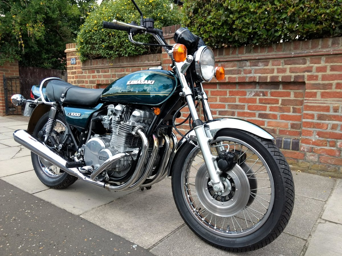 1977 Kawasaki Z1000 UK mint, low mileage SOLD (picture 1 of 6)