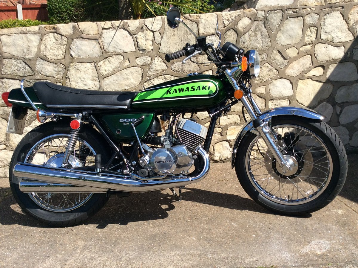 1973 Kawasaki H1D 500 triple almost perfect restored SOLD (picture 1 of 6)
