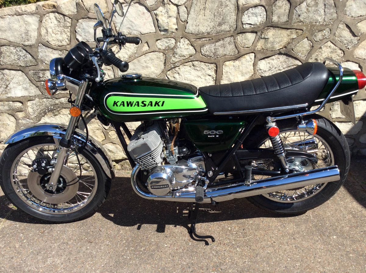 1973 Kawasaki H1D 500 triple almost perfect restored SOLD (picture 4 of 6)