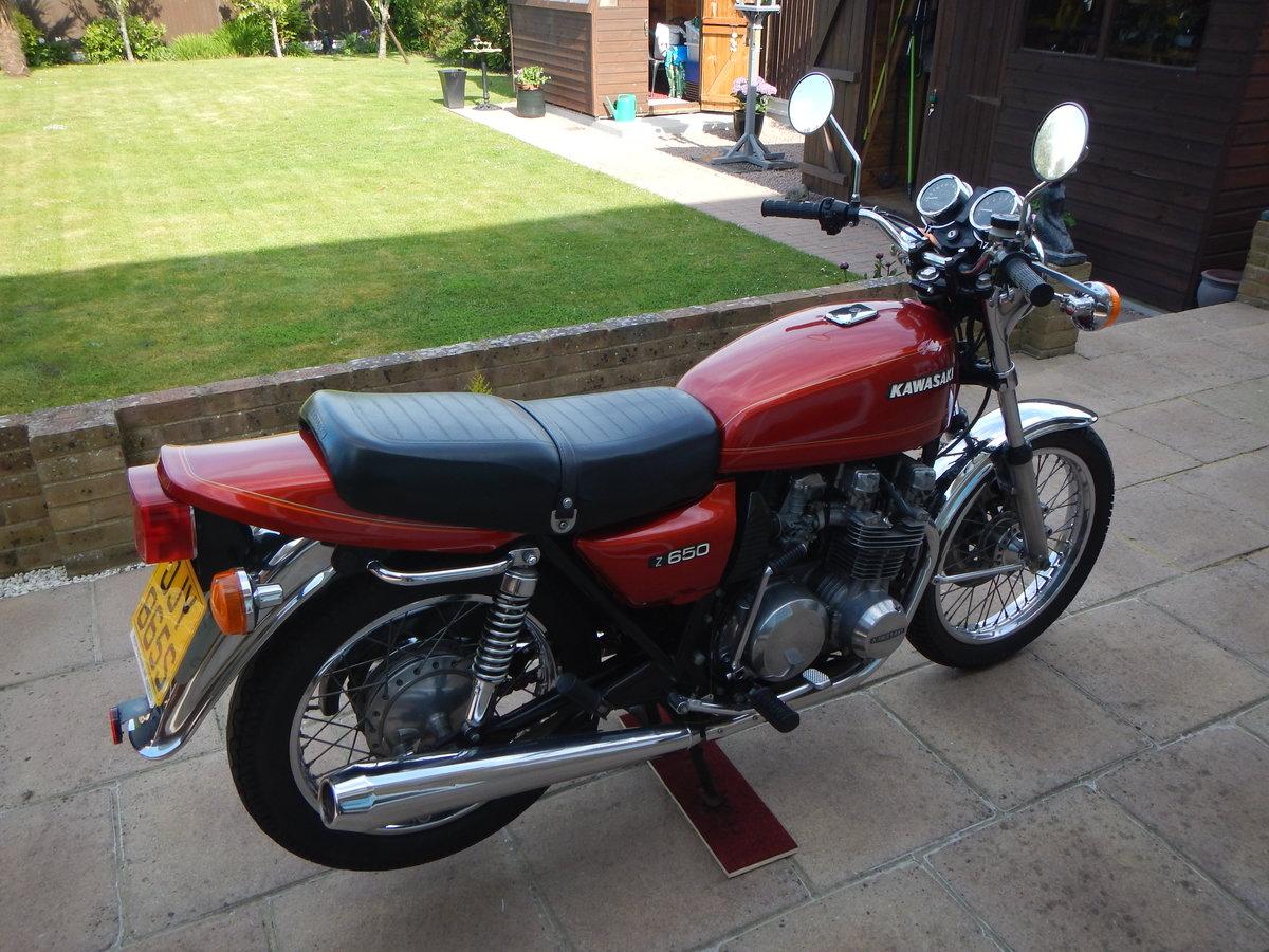 1978 Kawasaki Z650 B1 UK Model SOLD (picture 1 of 6)