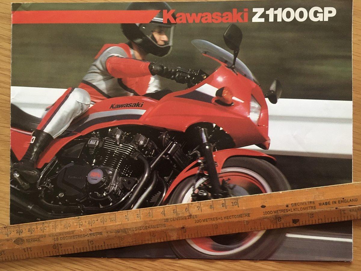 1983 Kawasaki Z1100 GP brochure For Sale (picture 1 of 1)