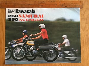 1968 Kawasaki 250 samurai and 350 avenger brochure For Sale