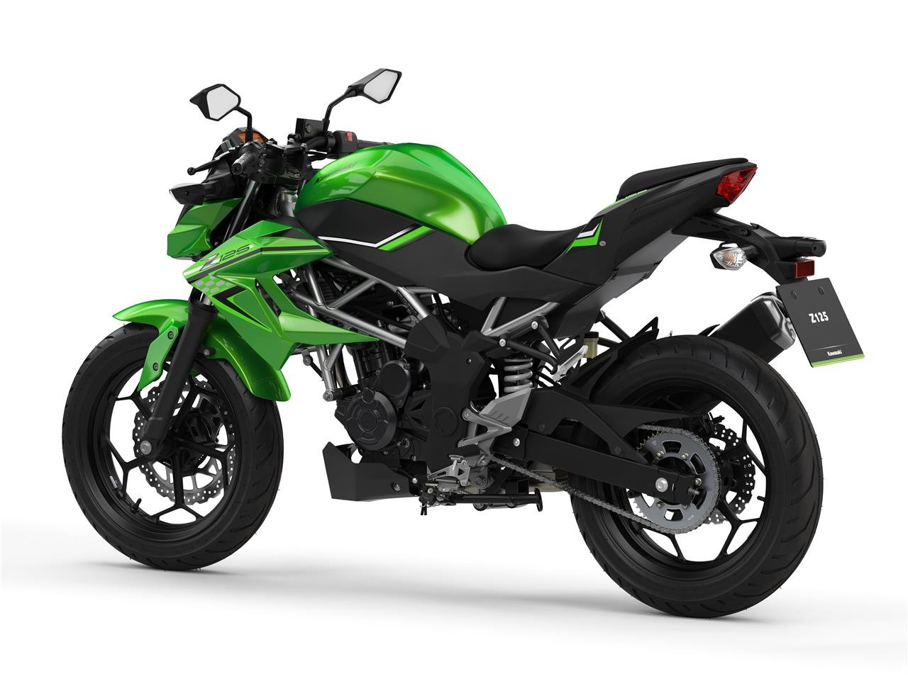 New 2021 Kawasaki Z 125 ABS Green For Sale (picture 4 of 6)