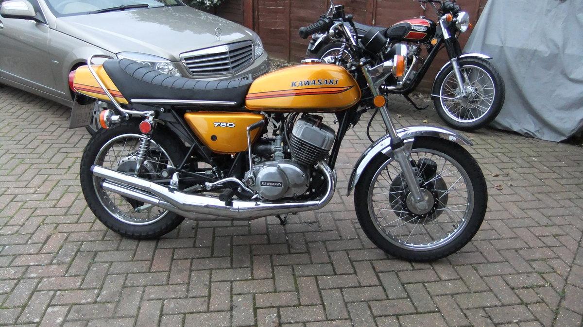 Kawasaki H2B 750 triple 1974 SOLD (picture 2 of 6)