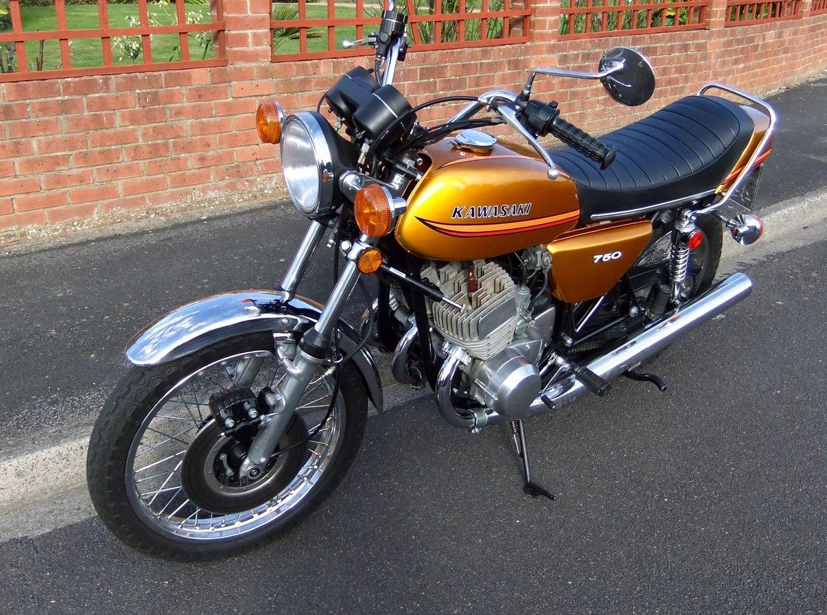 Kawasaki H2B 750 triple 1974 SOLD (picture 4 of 6)
