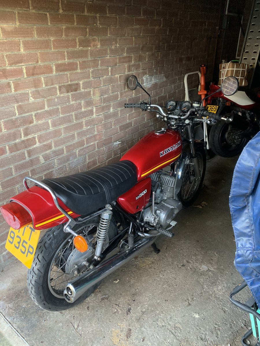 1976 Kawasaki kh500 uk bike stored for many years For Sale (picture 2 of 3)