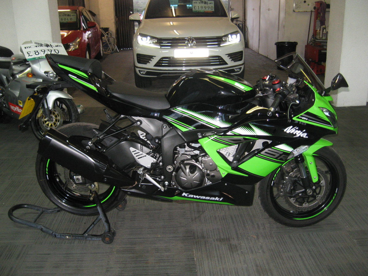 2017 17-reg Kawasaki ZX636r EGFA Ltd Edition finished in gre For Sale (picture 1 of 12)