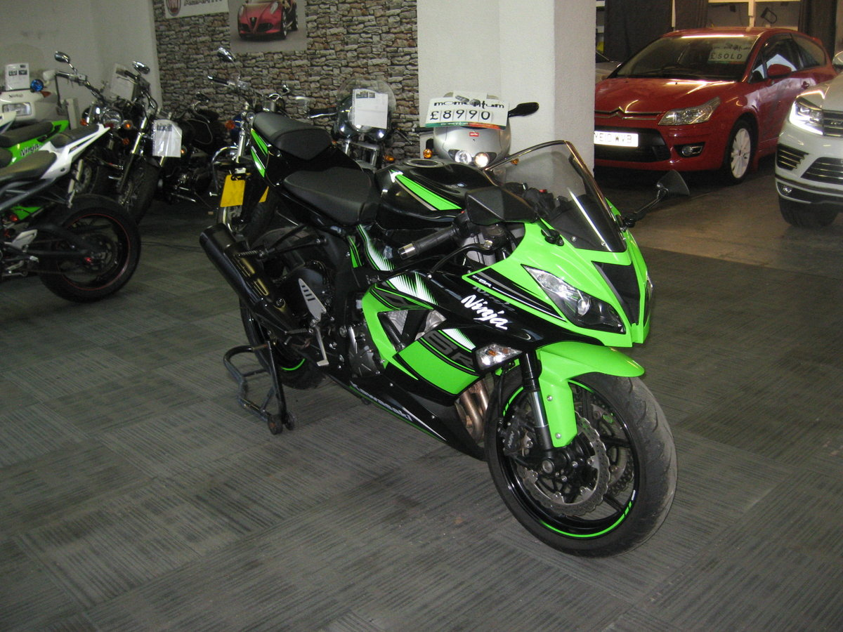 2017 17-reg Kawasaki ZX636r EGFA Ltd Edition finished in gre For Sale (picture 2 of 12)