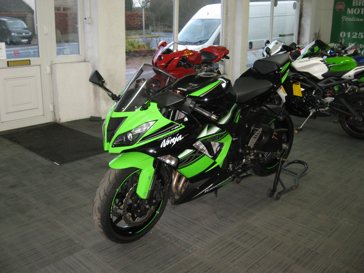 2017 17-reg Kawasaki ZX636r EGFA Ltd Edition finished in gre For Sale (picture 3 of 12)