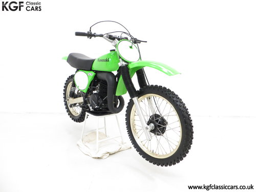 One of 1500, a 1978 Kawasaki KX250-A4 SOLD (picture 1 of 6)