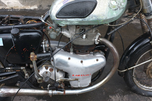 Kawasaki W1 W 1 1964 #52 No.52 with No.55 Motor! Meguro BARN For Sale (picture 4 of 6)