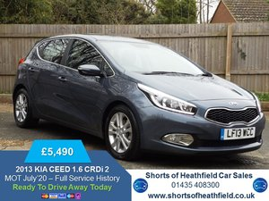 2013 Kia Ceed 1.6CRDi Ecodynamics 2 ( 126bhp ) For Sale