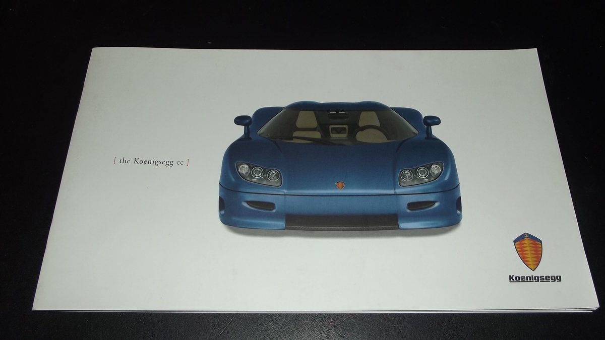 0000 KOENIGSEGG CC SUPERCAR ORIGINAL SALES BROCHURE - OFFERS For Sale (picture 1 of 2)
