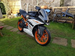 KTM RC 390 only 24 miles on the clock!