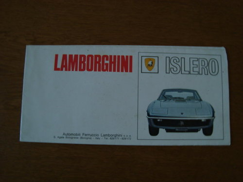 Lamborghini Islero fold out brochure For Sale (picture 1 of 1)