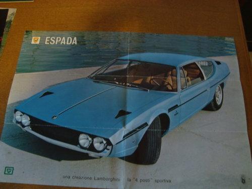 Lamborghini Espada fold out brochure. For Sale (picture 2 of 3)