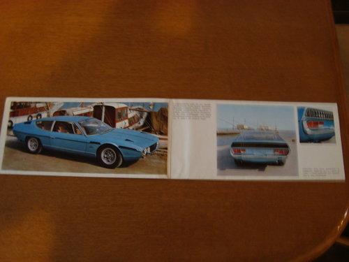 Lamborghini Espada fold out brochure. For Sale (picture 3 of 3)