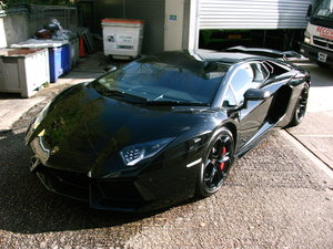 2012 Lamborghini Aventador LP700-4 in Black.