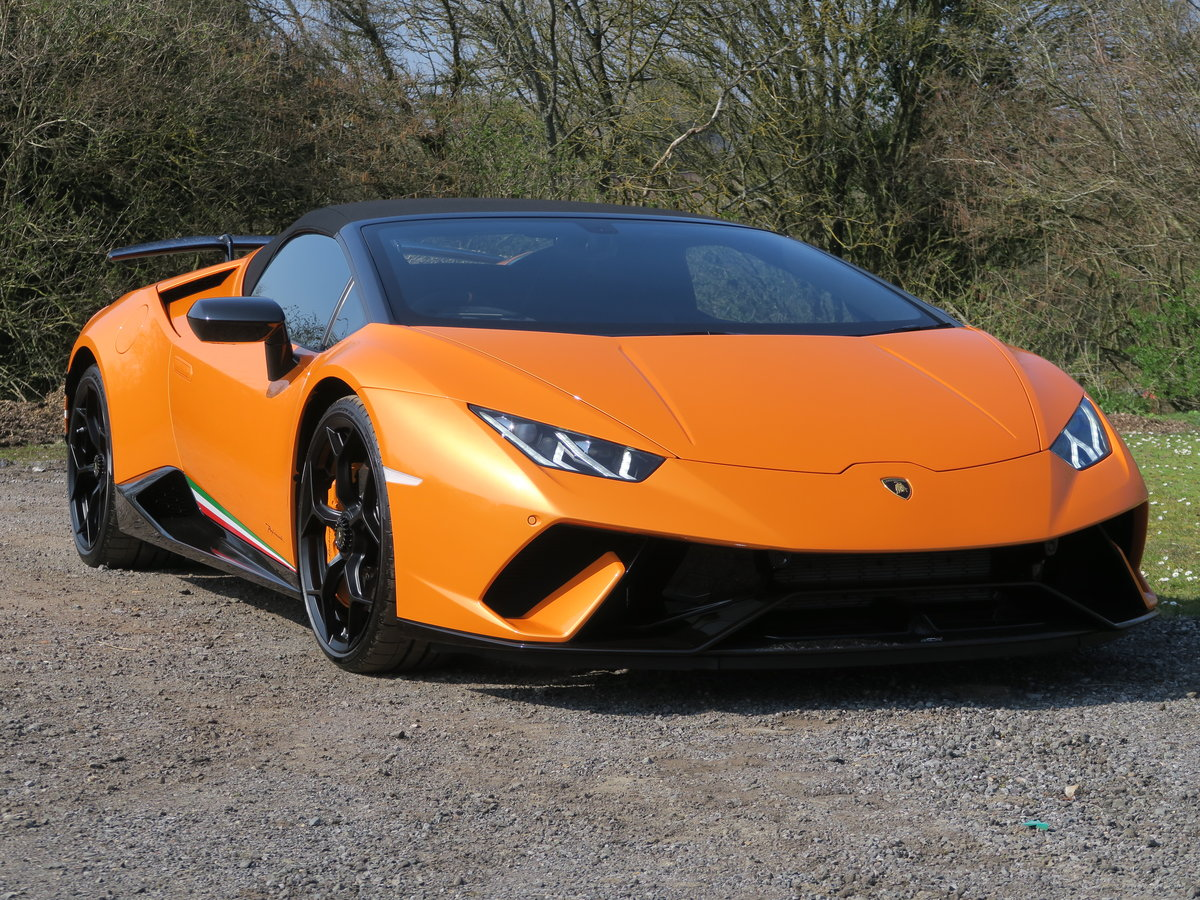 2019 Lamborghini Huracan Performante Spyder VAT Qualifying SOLD (picture 1 of 6)