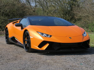 2019 Lamborghini Huracan Performante Spyder VAT Qualifying SOLD