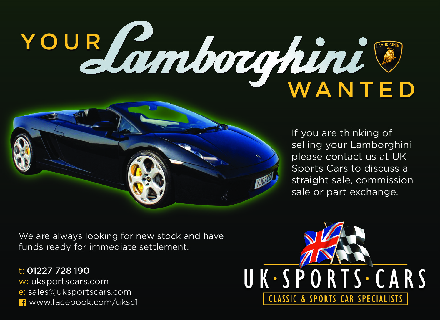 Lamborghini Gallardo Wanted! Any Age – Condition – Model. Wanted (picture 1 of 1)