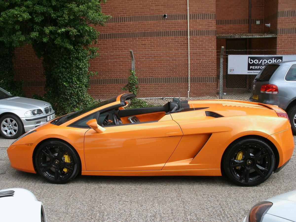 2008 Lamborghini Gallardo 5.0 V10 Spyder E-Gear For Sale (picture 2 of 6)