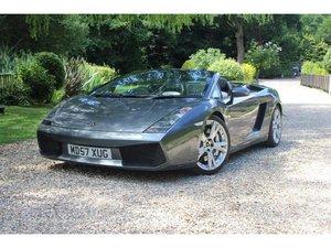 2007 Lamborghini Gallardo 5.0 V10 Spyder E-Gear 4WD 2dr IMMACULAT For Sale