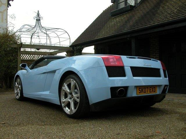 2007 ROD STEWART'S NEW GALLARDO SPYDER WITH 3200 MLS FOR SALE For Sale (picture 3 of 6)
