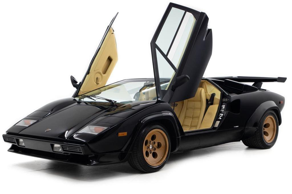 1984 Lamborghini Countach Coupe Euro-spe Black(~)Tan $349.5k For Sale (picture 1 of 6)