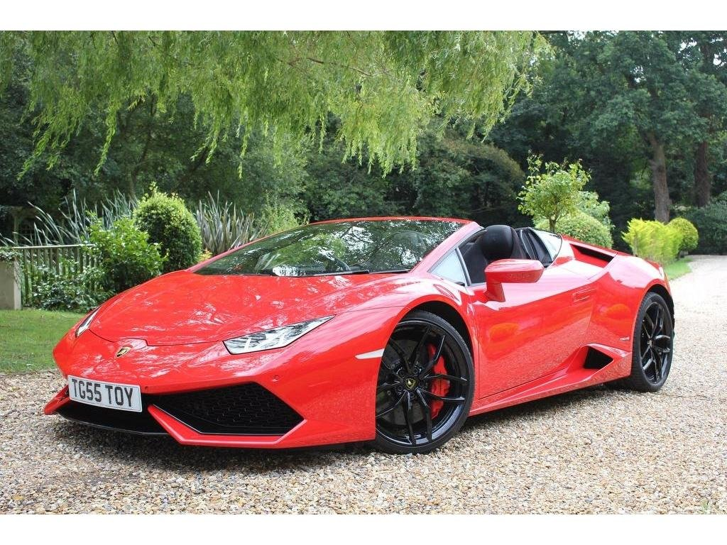 2017 Lamborghini Huracan 5.2 V10 LP 610-4 Spyder LDF 4WD (s/s) 2d For Sale (picture 1 of 1)
