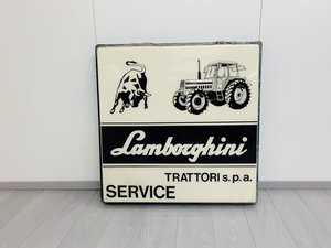 1975 Lamborghini Tractor Sign Original For Sale