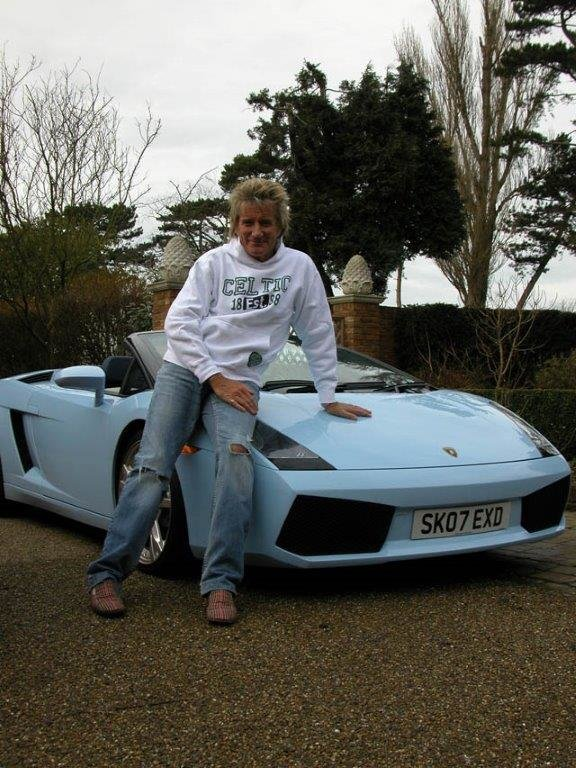 2007 ROD STEWART'S NEW GALLARDO SPYDER WITH 3200 MLS FOR SALE For Sale (picture 1 of 6)