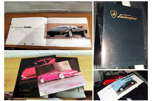 0000 LAMBORGHINI VARIOUS ORIGINAL SALES BROCHURES AND pictures For Sale