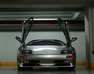 Picture of 1997 Lamborghini Diablo SV, Titanium over Torpedo Nero For Sale